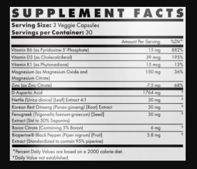 SBulk Supplement Facts